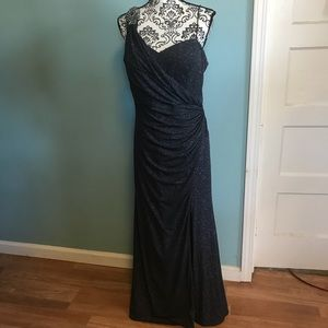 Gorgeous gray sparkly formal dress